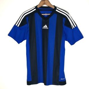 Adidas Royal Blue and Black Soccer Jersey Size S